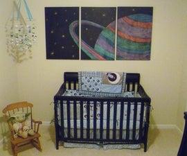 Solar System Chalk Mural