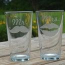 EASY DIY Mr & Mrs Etched Glasses