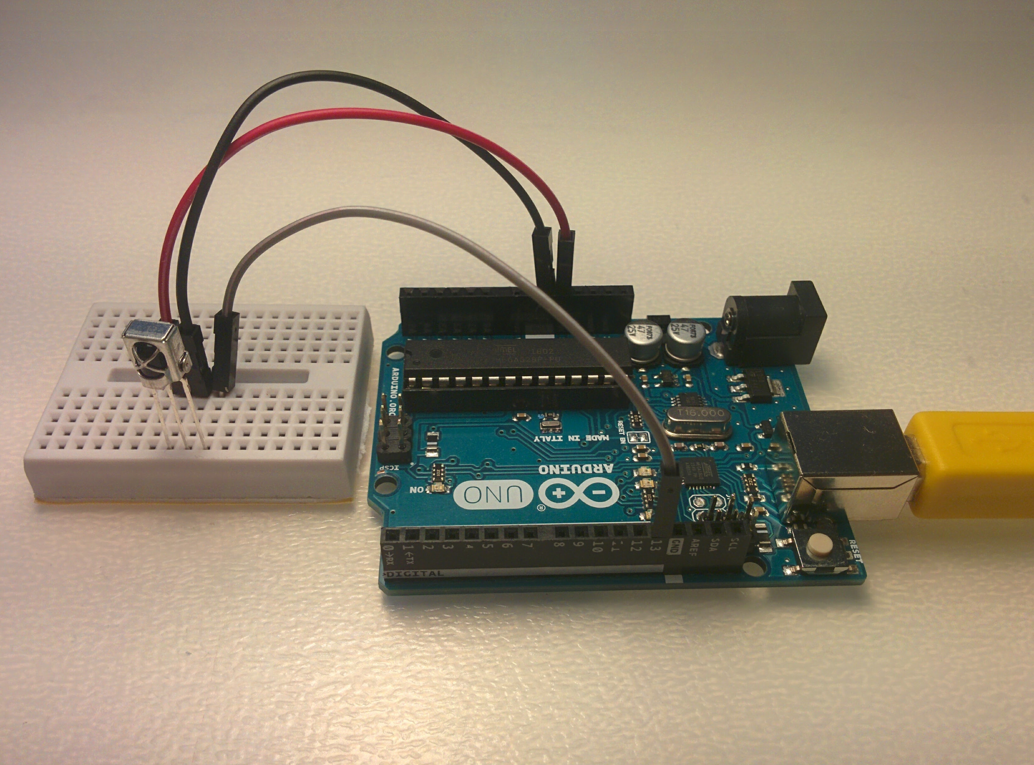 Picture of Connecting IR Sensor to Arduino