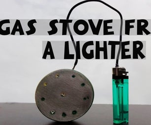 Make Gas Stove From a Lighter (Life Hacks).