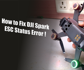 How to Fix DJI Spark ESC Status Error! | Replacement