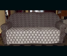 DIY Cheap Custom Sofa Slipcover