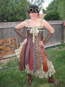 Steampunk Necktie Corset Dress