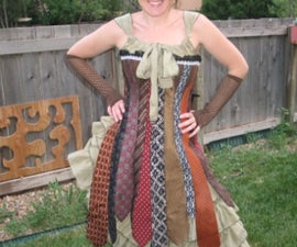 Steampunk Necktie Corset Dress