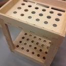 Long Tool Organizer Cart Made With CNC-plywood -Brooms, Rakes, Shovels...