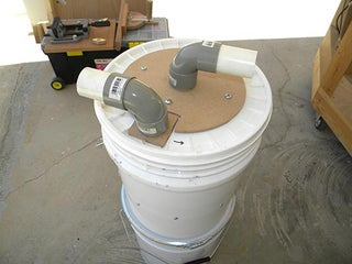 Mini Cyclone Bucket Dust Collector 7 Steps Instructables