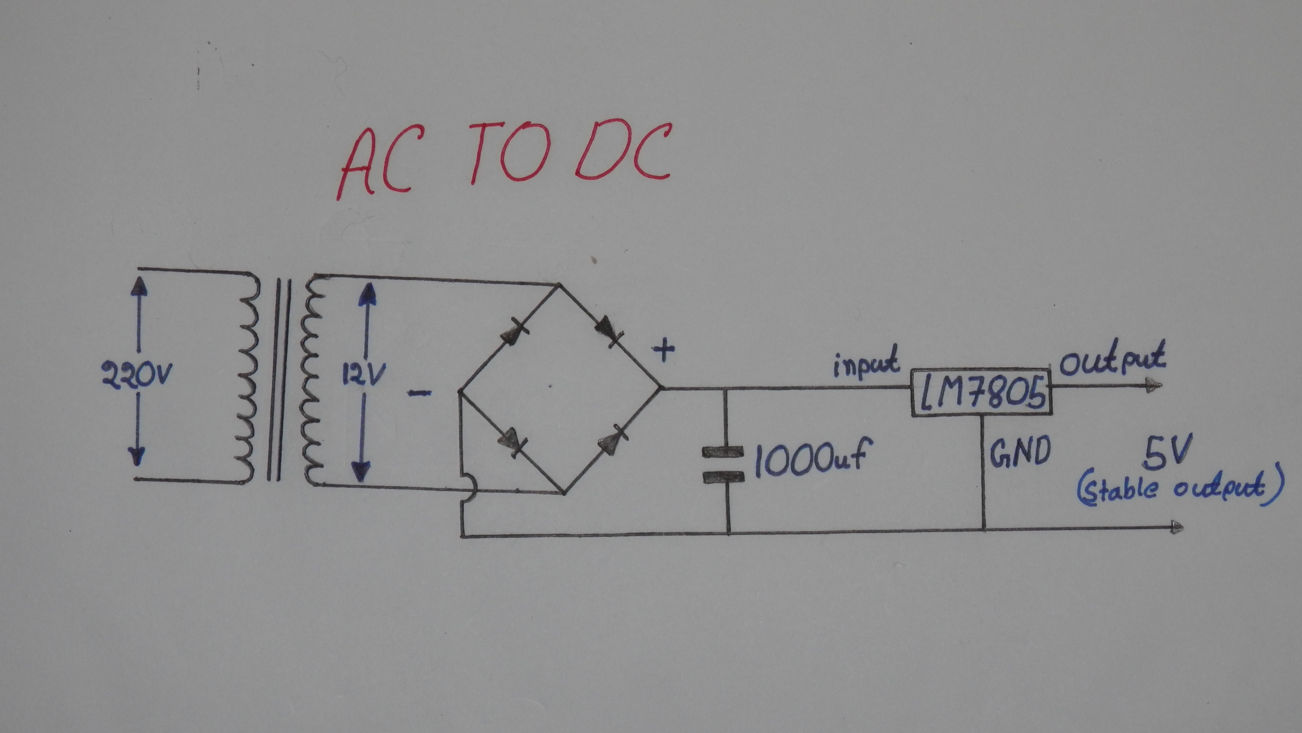 Picture of How to Convert 220v AC to 5v Stable DC