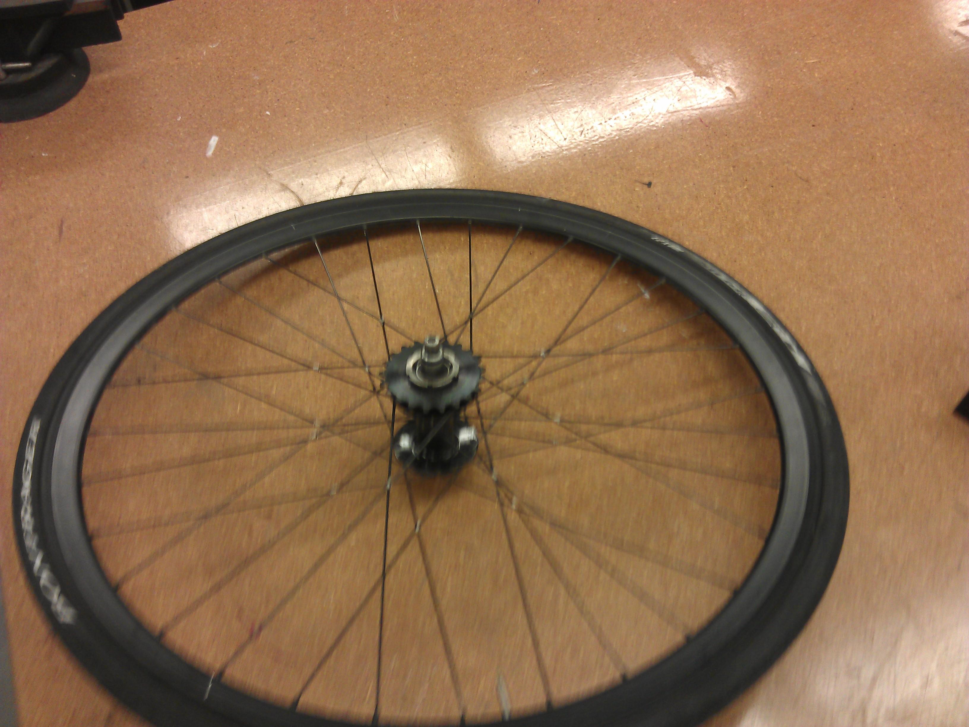 Picture of Tie and Solder a Bike Wheel