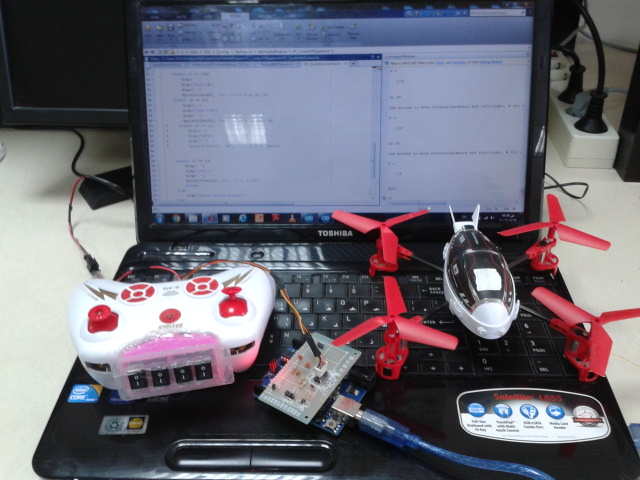 Picture of Transform Your RC Quadrotor Into a Computer Controlled Quadrotor (The Easiest Way)