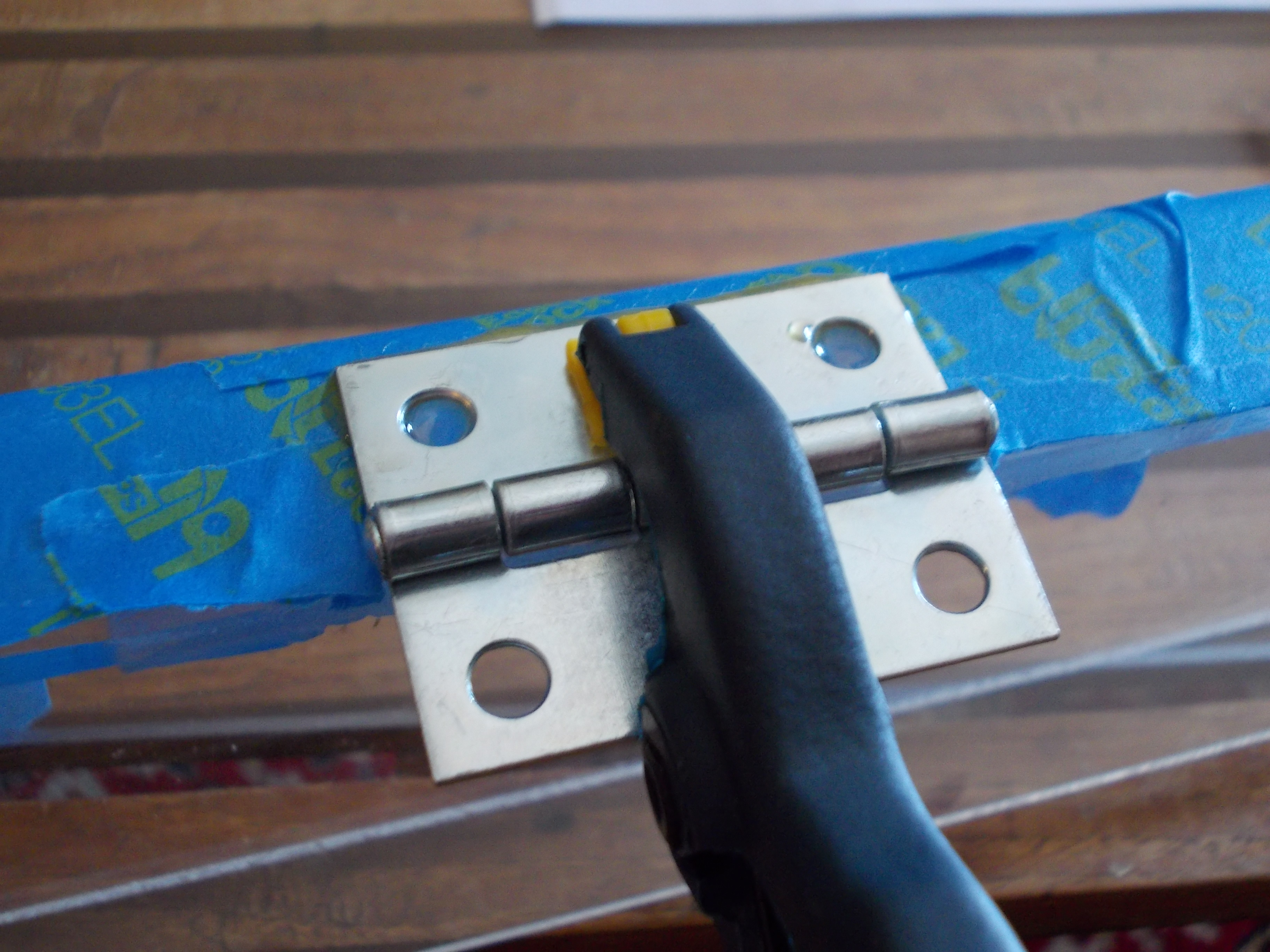 Picture of Glue and Clamp the Hinges