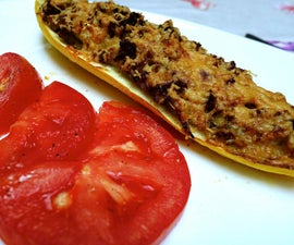 Stuffed Yellow Courgettes