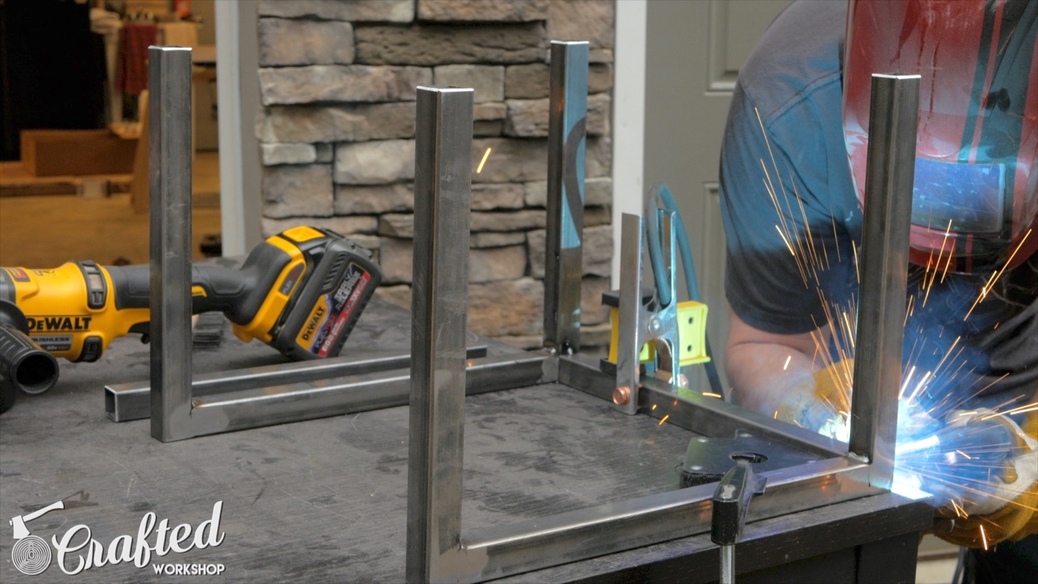 Picture of Weld the Two Leg Sections Together
