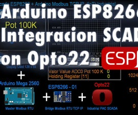 Arduino ESP8266 Modbus TCP IP Scada Industrial Opto22