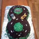Figure 8 Race Track Cake