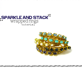 Sparkle and Stack Wrapped Rings