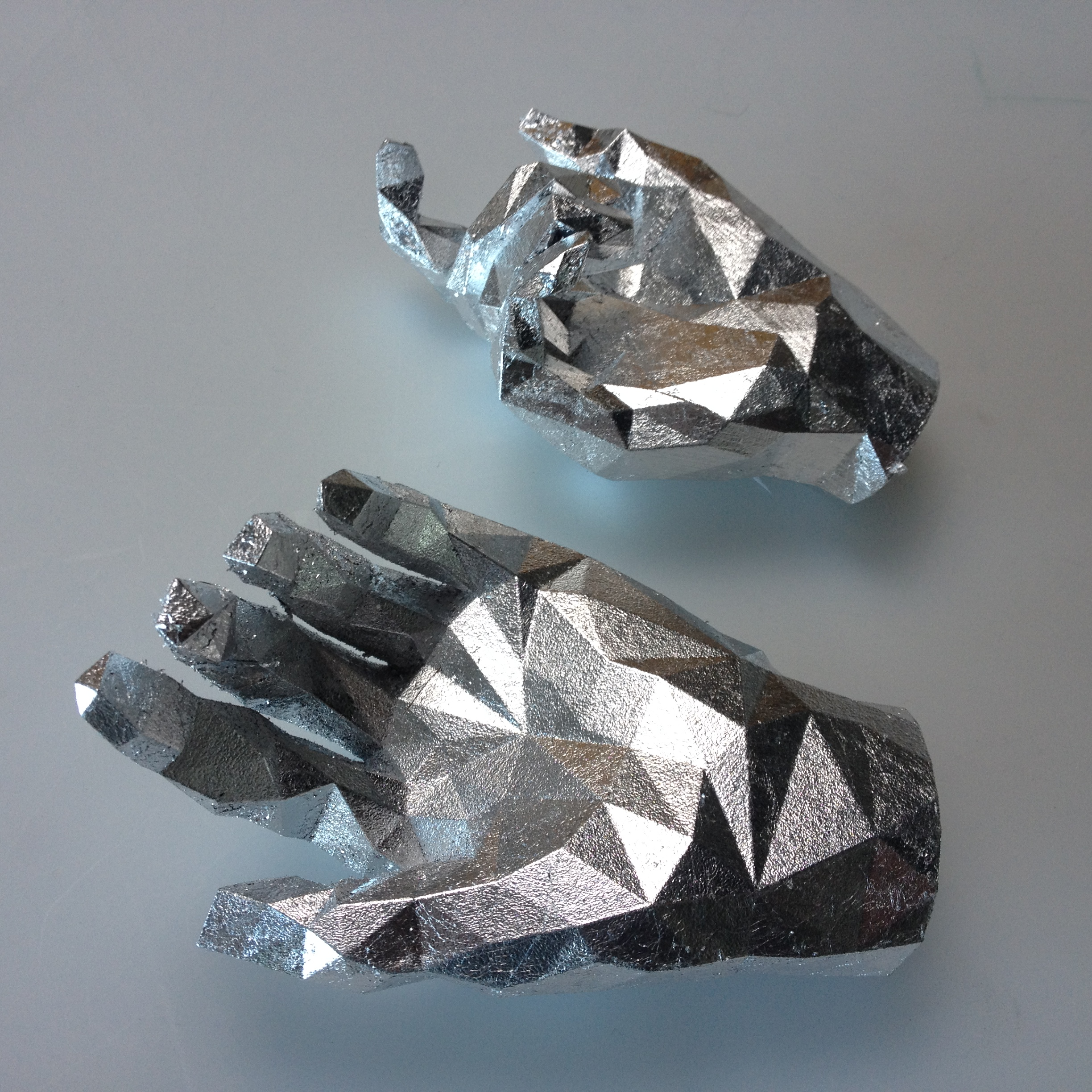 Picture of Silver Leaf a 3D Print