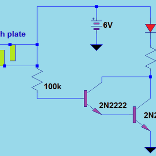 What transistor should I use for a touch-sensitive switch?