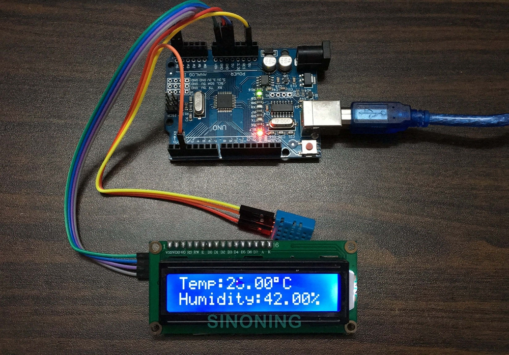 Picture of Arduino Hygrothermograph Hygrometer Kit +LCD1602/I2C+DHT11