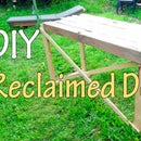 Reclaimed Garage Door Bench Table
