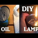 Emergency Tuna Tin Oil Lamp