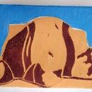 Color Linoleum Print Using Multiple Blocks