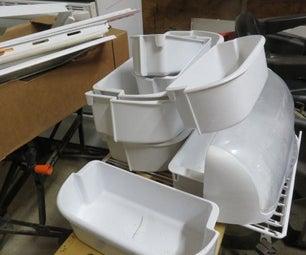 Repurposing Refrigerator Shelves and Bins