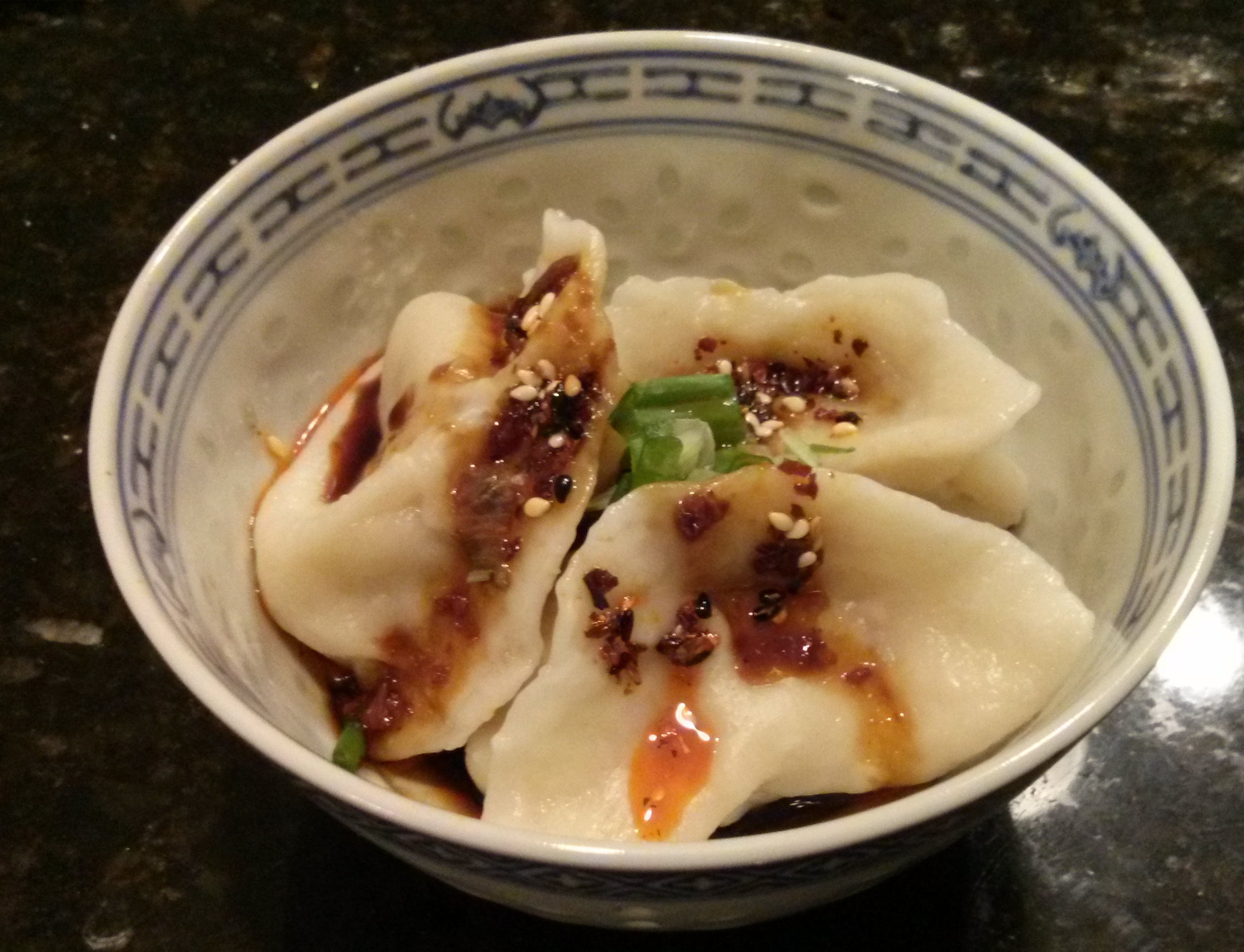 Picture of Chinese Dumplings Two Ways With Sichuan Dipping Sauce