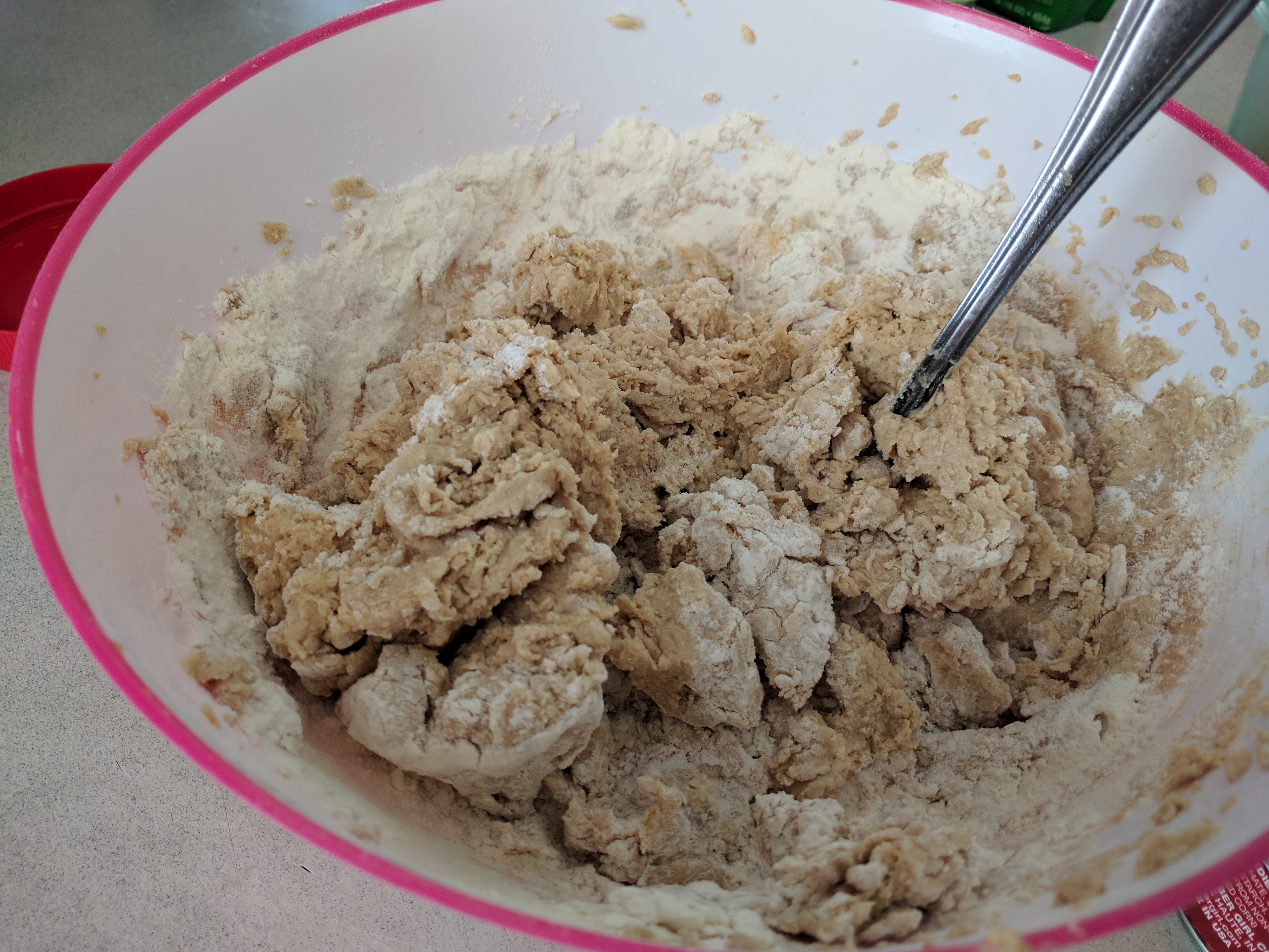 Picture of Add Dry Ingredients to the Peanut Butter Mixture