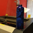 laser etching a water bottle