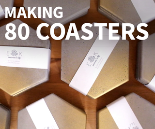 How to Make Concrete Coasters in Large Batches