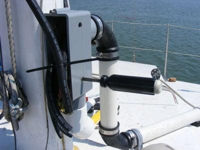 Bottom of Mast Wiring to Cabin