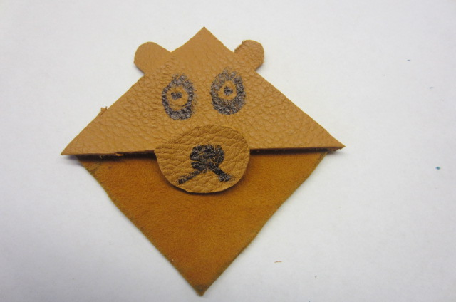 Picture of How to Make Leather Corner Bookmarks