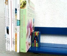 Book Shelf with inbuilt Book end.