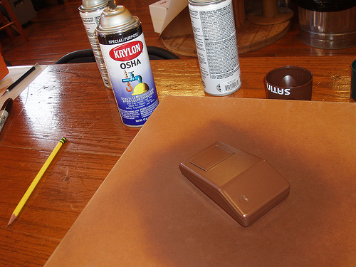 Picture of Paint the Mouse Brown for a Stem.