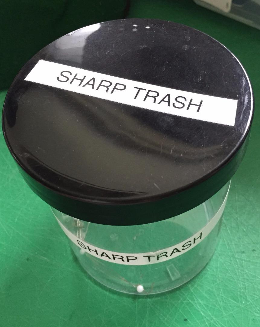 Picture of Sharp Trash (Home/Studio/Workshop Tip)