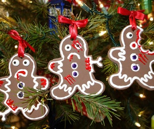Zombie Gingerbread Ornament