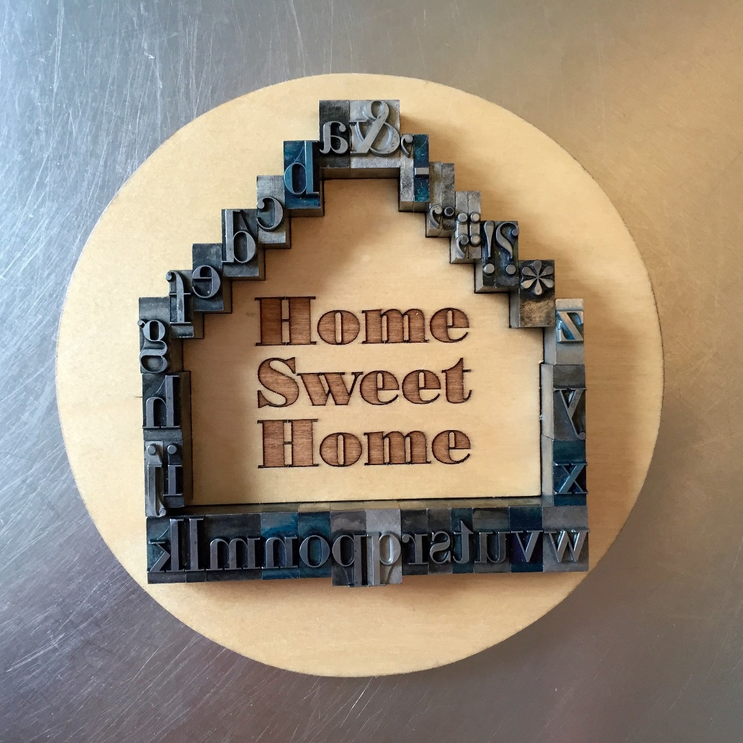 Picture of Home Sweet Metal Type