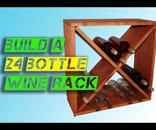 How to Make a 24-bottle Wine Rack Storage Cube