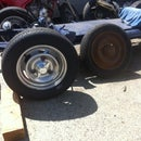 Chrome silver powder coat and vintage racing wheel customization