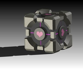 3D companion cube.  Its time to fire up Inventor and make my own companion cube.
