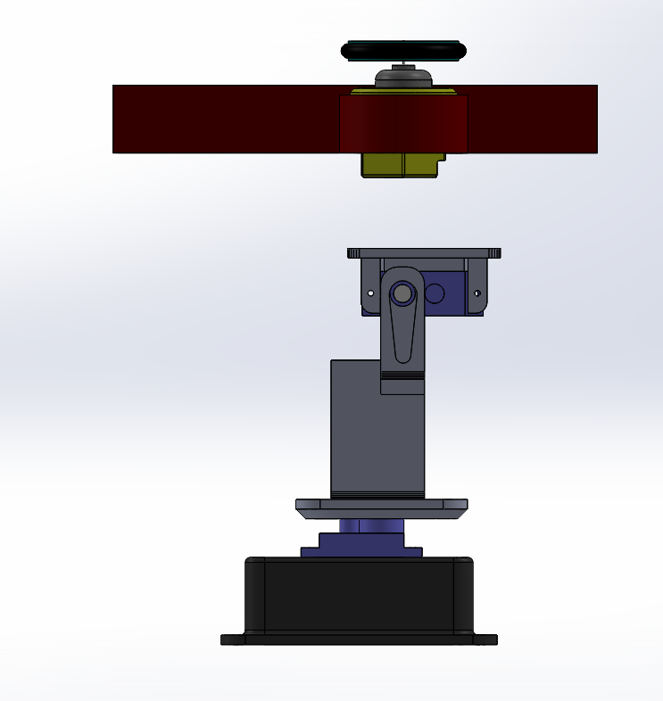 Picture of Attach the Launcher Assembly to the Rotating Base
