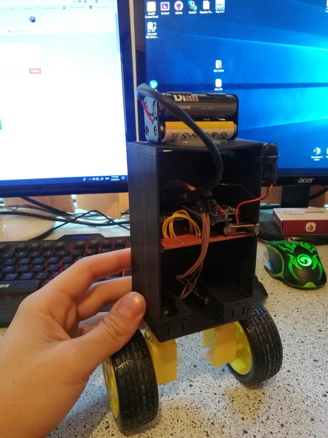 Picture of Self Balancing Arduino-Based Robot