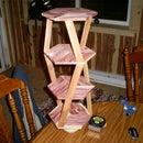Small cedar nick nack shelf