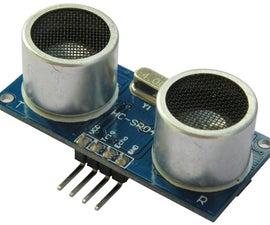 Easy ultrasonic 4-pin sensor monitoring (hc-sr04)