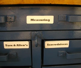 Recycled Tool Box Magnetic Labels