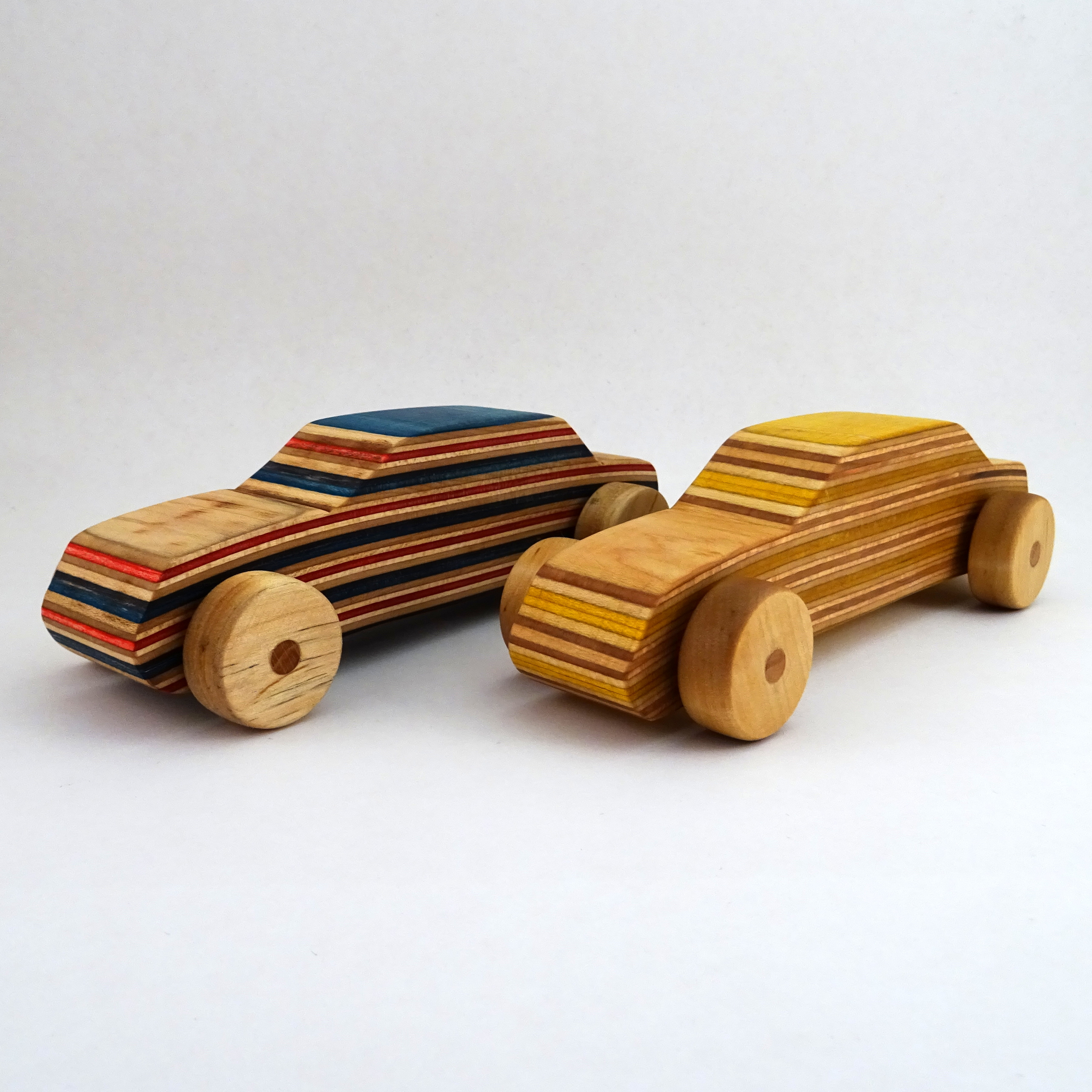Picture of Wooden Toy Racecar Out of Recycled Skateboards