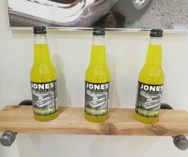 Industrial Bottle Display Shelf