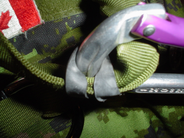 Picture of Carabiner Anti-Slide Device.