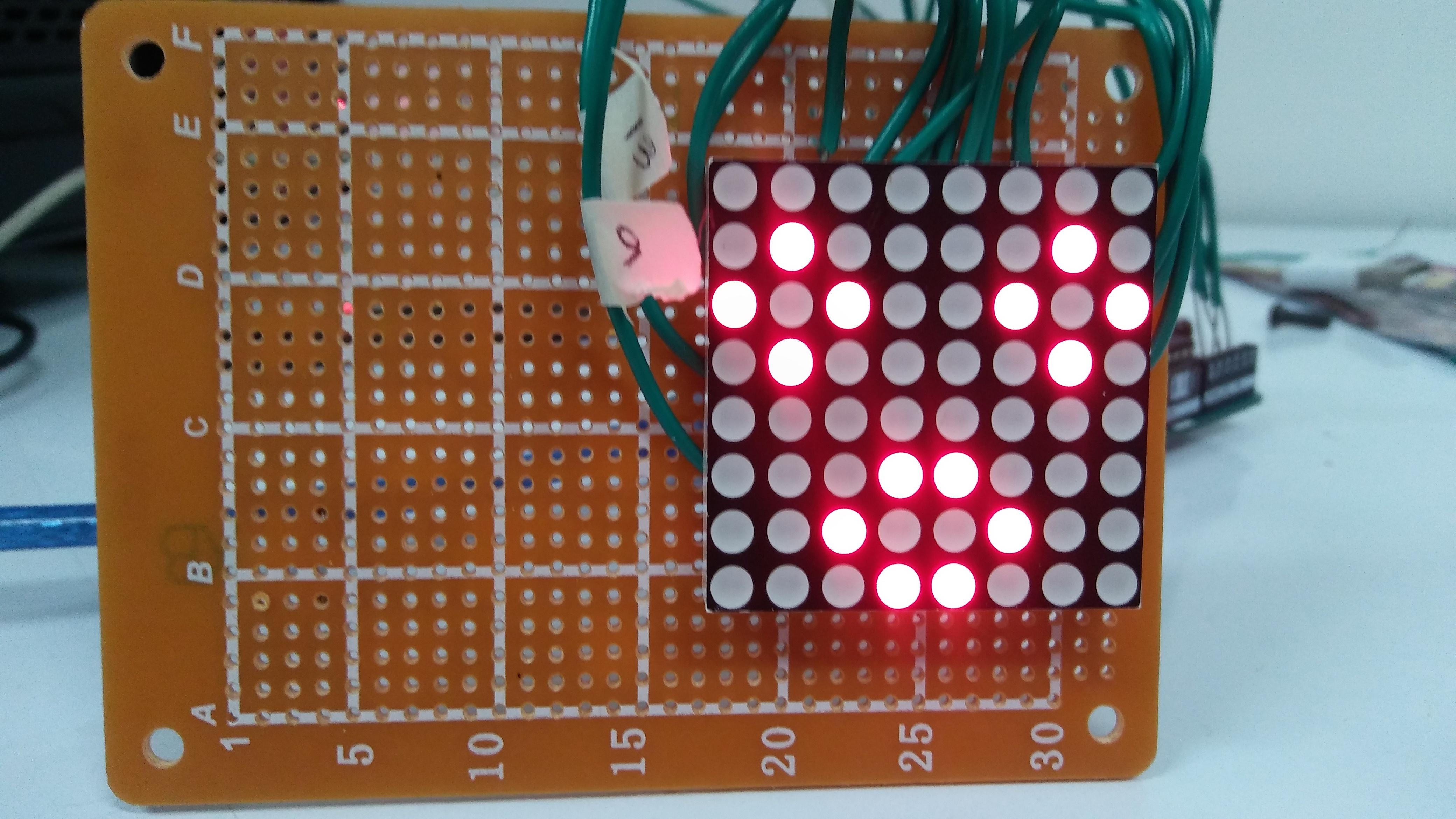 Picture of 8x8 LED Matrix Using Arduino
