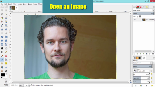 Open an Image in GIMP